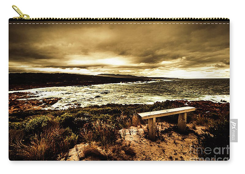 Atmosphere Carry-all Pouch featuring the photograph Atmospheric Beach Artwork by Jorgo Photography - Wall Art Gallery