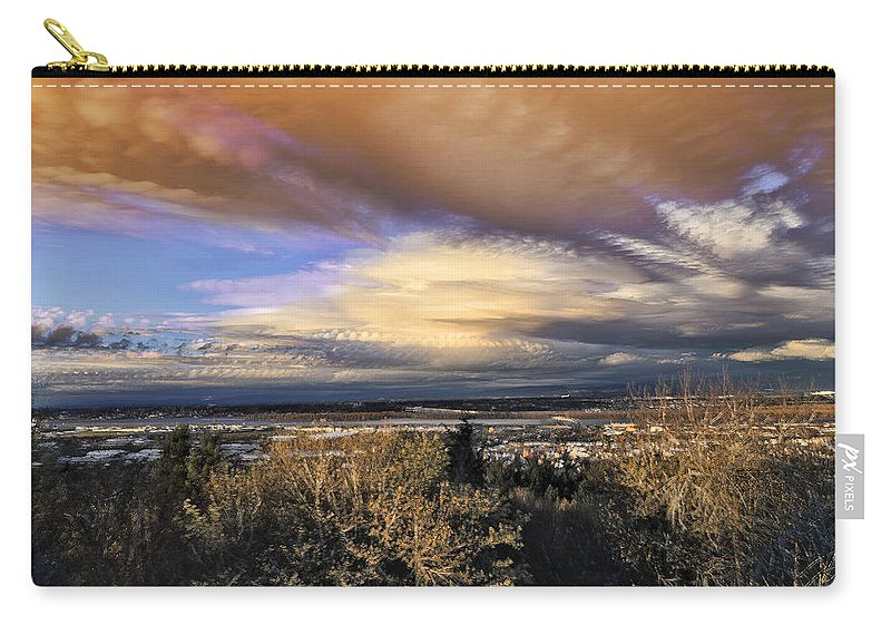 Atmospheric Disturbance Carry-all Pouch featuring the photograph Atmospheric Disturbance by Wes and Dotty Weber