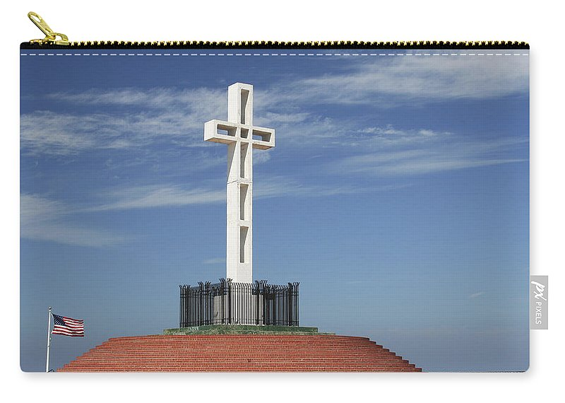 Mt Soledad Carry-all Pouch featuring the photograph Atop Mt Soledad by Margie Wildblood