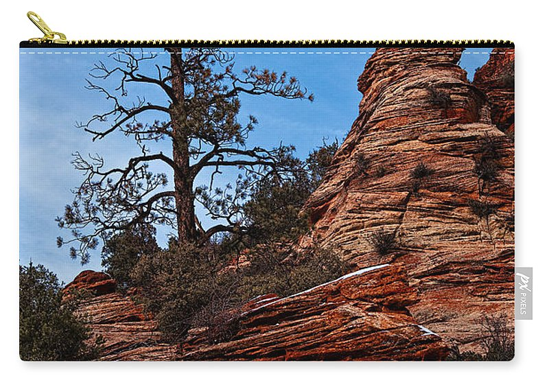 Utah Carry-all Pouch featuring the photograph Atop The Layers by Christopher Holmes