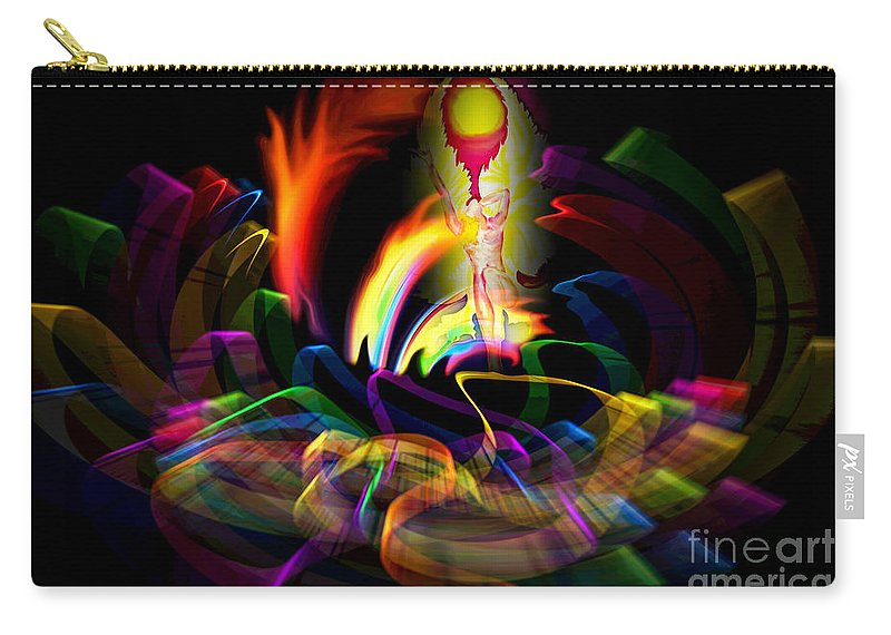 Atrium Carry-all Pouch featuring the painting Atrium Outburst Angel by Walter Zettl