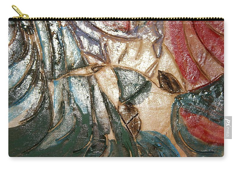 Gloria Ssali Carry-all Pouch featuring the ceramic art Atrraction - Tile by Gloria Ssali