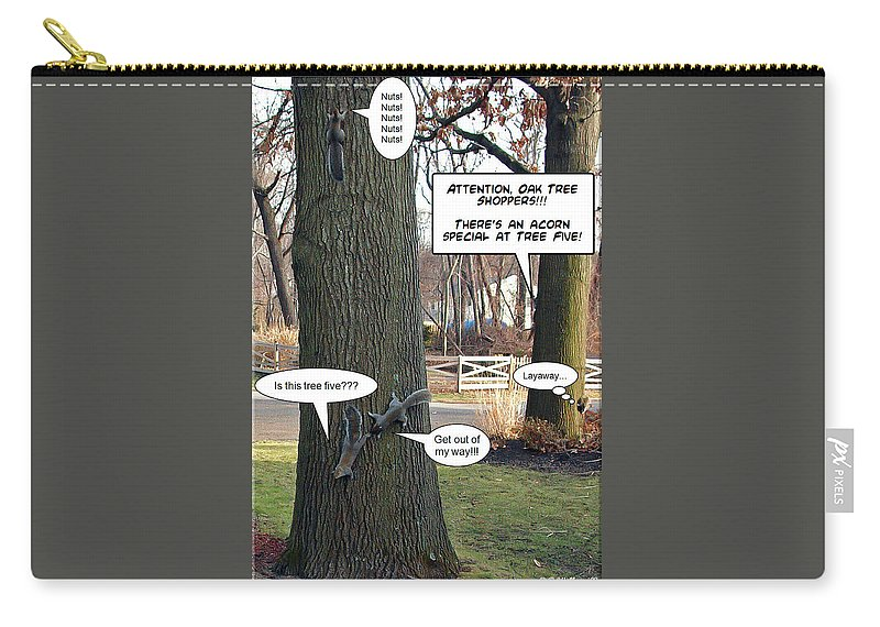 2d Carry-all Pouch featuring the photograph Attention Oak Tree Shoppers by Brian Wallace