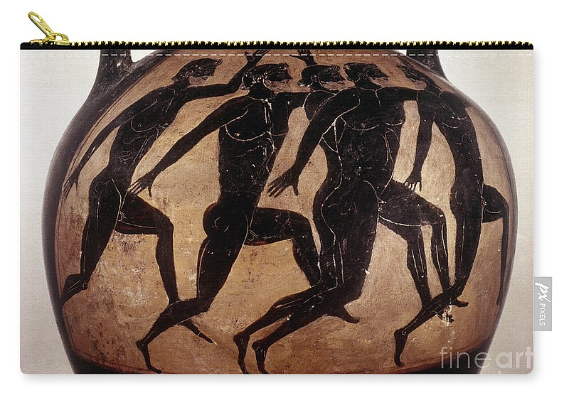 6th Century B.c Carry-all Pouch featuring the photograph Attic Black-figured Vase by Granger