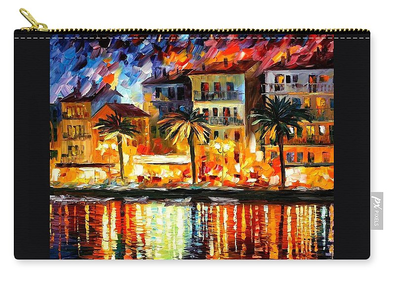 Afremov Carry-all Pouch featuring the painting Attractive Corsica by Leonid Afremov