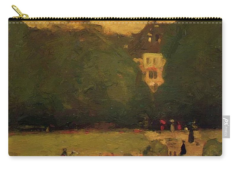 Au Carry-all Pouch featuring the painting Au Jardin Du Luxembourg 1899 by Henri Robert