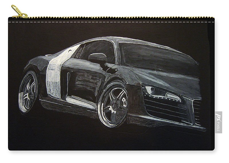 Audi Carry-all Pouch featuring the painting Audi Le Mans by Richard Le Page