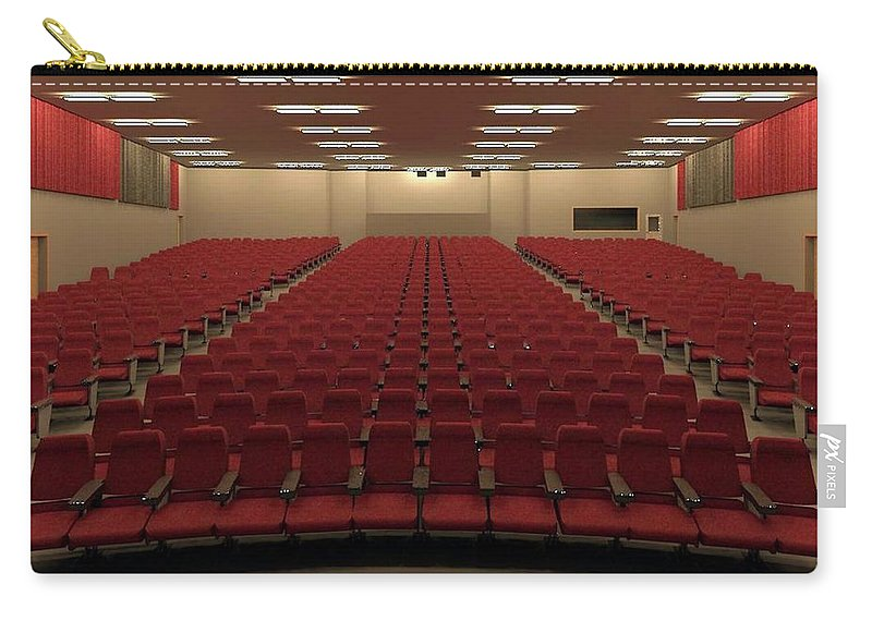 Rendering Carry-all Pouch featuring the digital art Auditorium by Ron Bissett