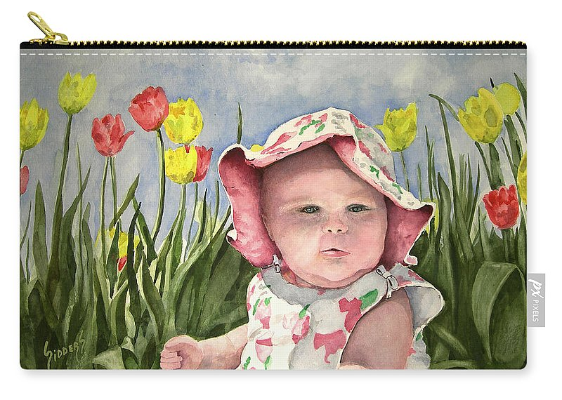 Kids Carry-all Pouch featuring the painting Audrey by Sam Sidders