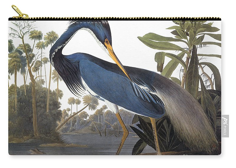 1827 Carry-all Pouch featuring the photograph Audubon Heron, 1827 by John James Audubon