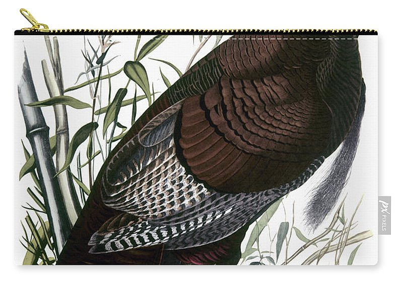 1838 Carry-all Pouch featuring the photograph Audubon: Turkey by Granger