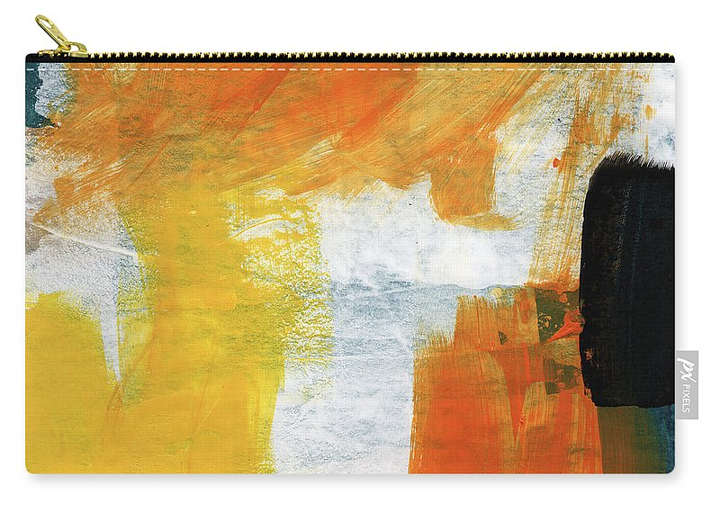 Abstract Carry-all Pouch featuring the painting August- Abstract Art By Linda Woods. by Linda Woods