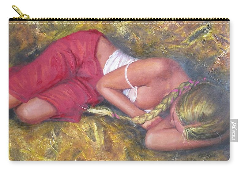 Ignatenko Carry-all Pouch featuring the painting August by Sergey Ignatenko
