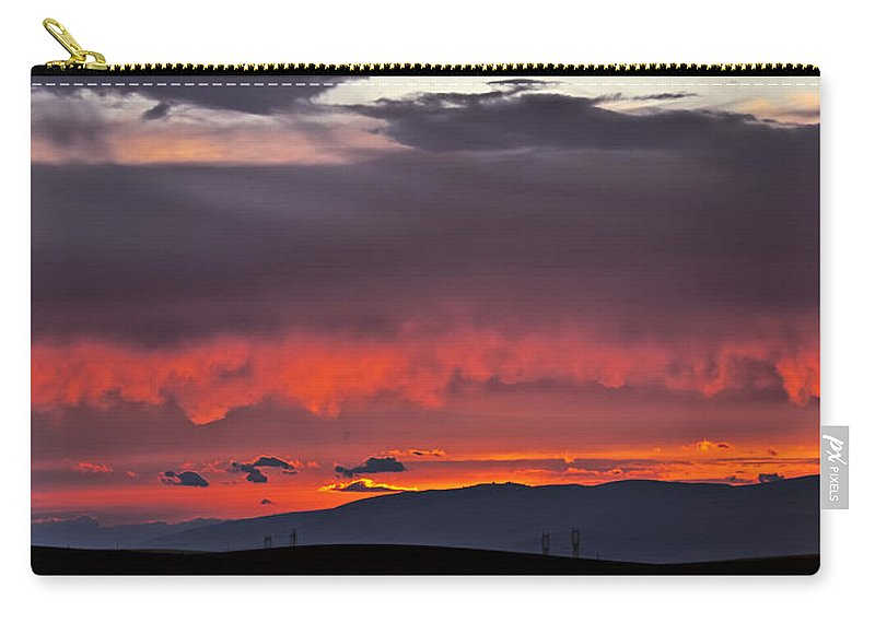 Sunset Carry-all Pouch featuring the photograph August Sunset by Albert Seger