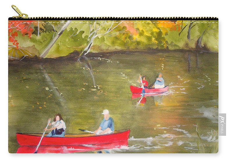 Canal Carry-all Pouch featuring the painting Augusta Canal Number One by Jean Blackmer