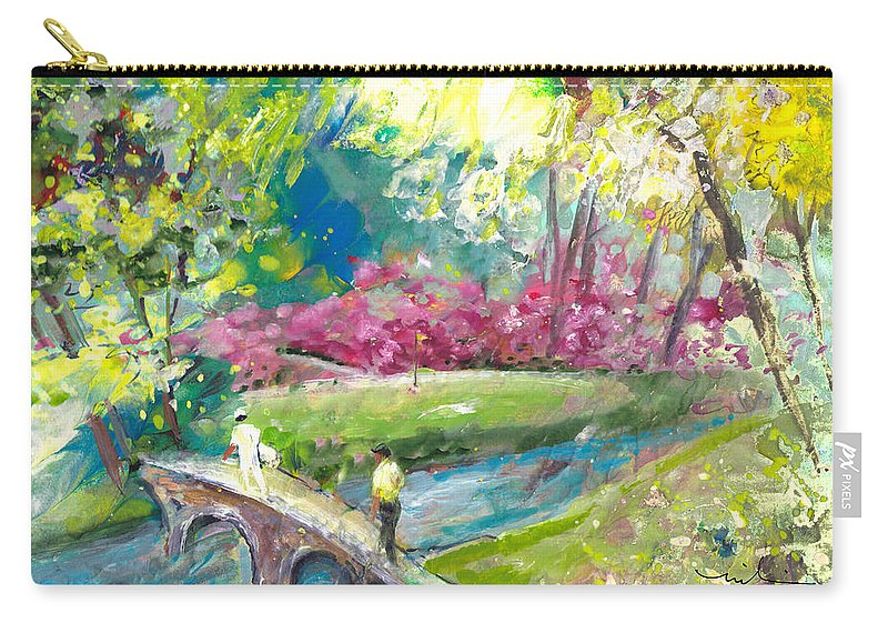 Augusta Carry-all Pouch featuring the painting Augusta Golf Course by Miki De Goodaboom