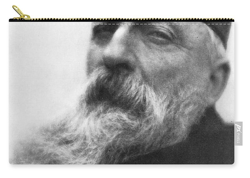 1906 Carry-all Pouch featuring the photograph Auguste Rodin (1840-1917) by Granger