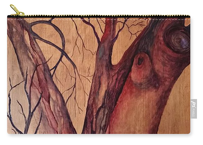 Tree Carry-all Pouch featuring the painting Mystical Tree by Cindy Harvell