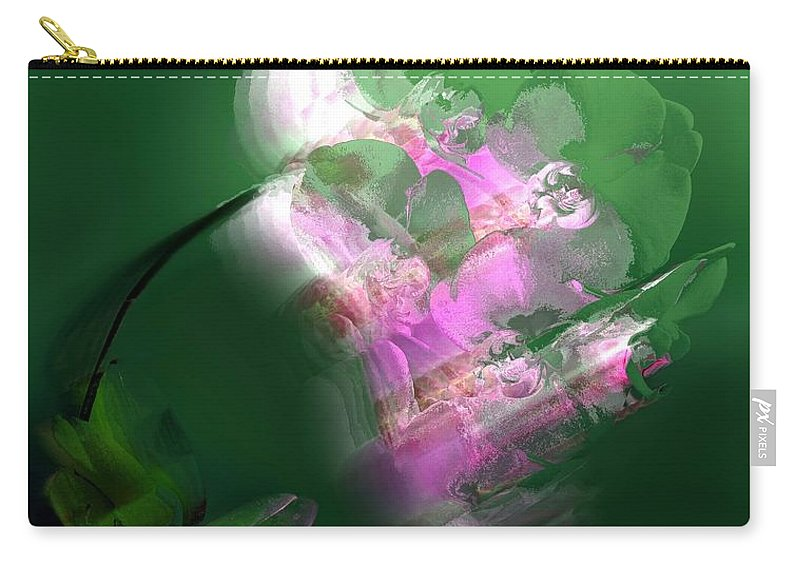 Abstract Carry-all Pouch featuring the digital art Auric Light by Clare Iacobelli