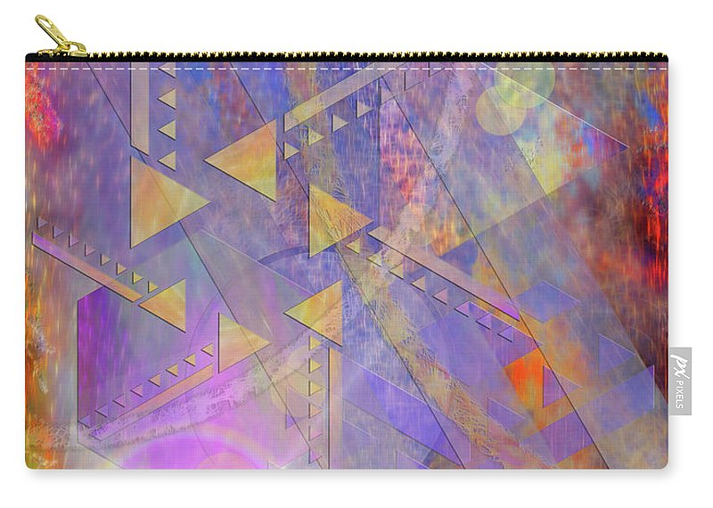 Aurora Aperture Carry-all Pouch featuring the digital art Aurora Aperture by John Beck