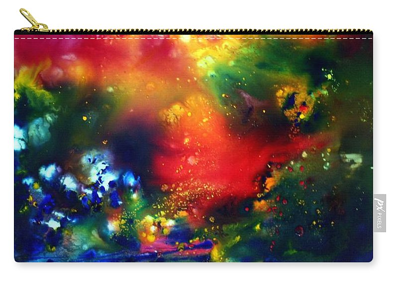 Abstract Carry-all Pouch featuring the painting Aurora Borealis by Luiza Vizoli