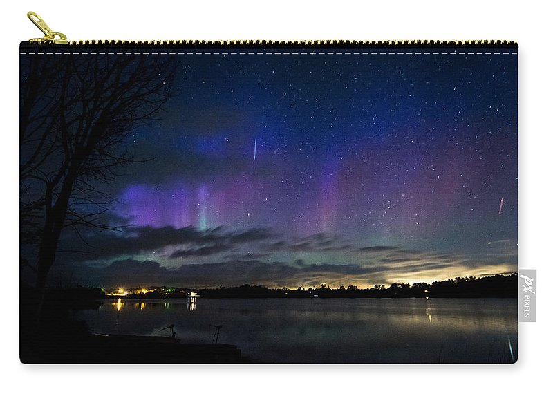 Landscape Carry-all Pouch featuring the photograph Aurora Borealis by Richard Kitchen