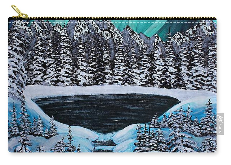 Barbara Griffin Carry-all Pouch featuring the painting Aurora's Fiery Display by Barbara Griffin