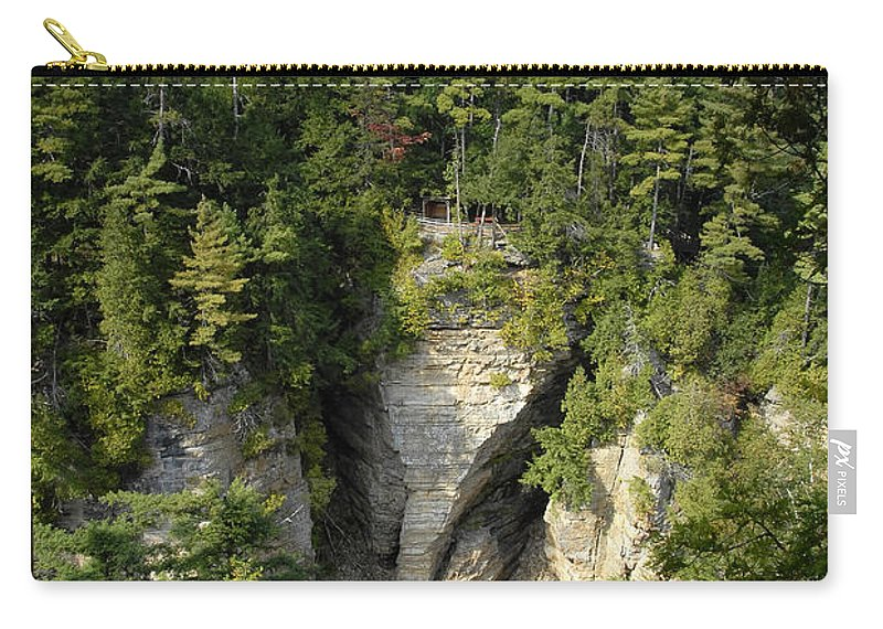 Ausable Chasm Carry-all Pouch featuring the photograph Ausable Chasm by David Lee Thompson