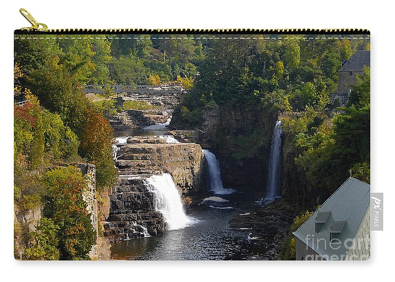 Ausable River Carry-all Pouch featuring the photograph Ausable Falls by David Lee Thompson