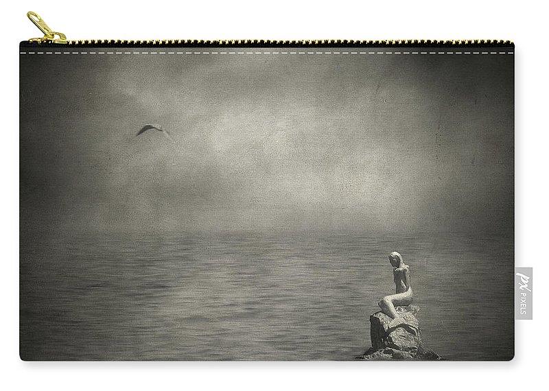 Fine Art Photography Carry-all Pouch featuring the photograph Ausencia Presencia Y Una Sirena by Zapista