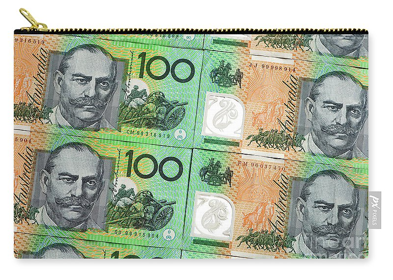 Australian Carry-all Pouch featuring the photograph Aussie Dollars 09 by Rick Piper Photography