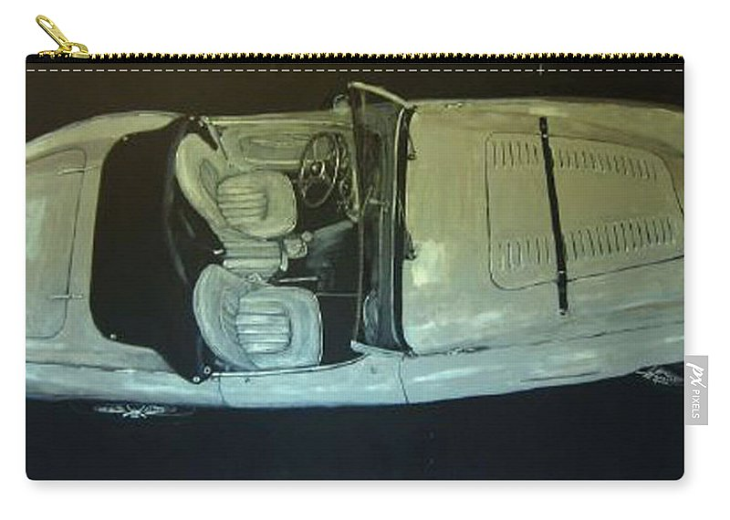 Car Carry-all Pouch featuring the painting Austin Healy Lm by Richard Le Page