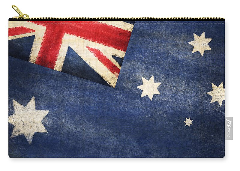 Abstract Carry-all Pouch featuring the photograph Australia Flag by Setsiri Silapasuwanchai