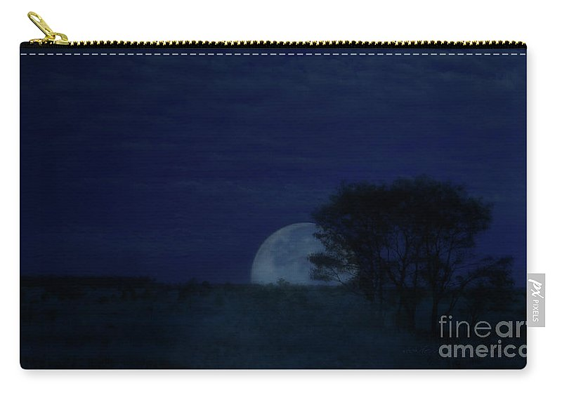 Vicki Ferrari Photography Carry-all Pouch featuring the photograph Australian Blue Moon by Vicki Ferrari
