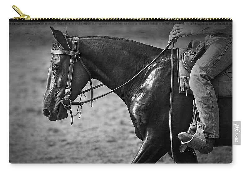 Horse Photography Carry-all Pouch featuring the photograph Australian Cowboy by Michelle Wrighton