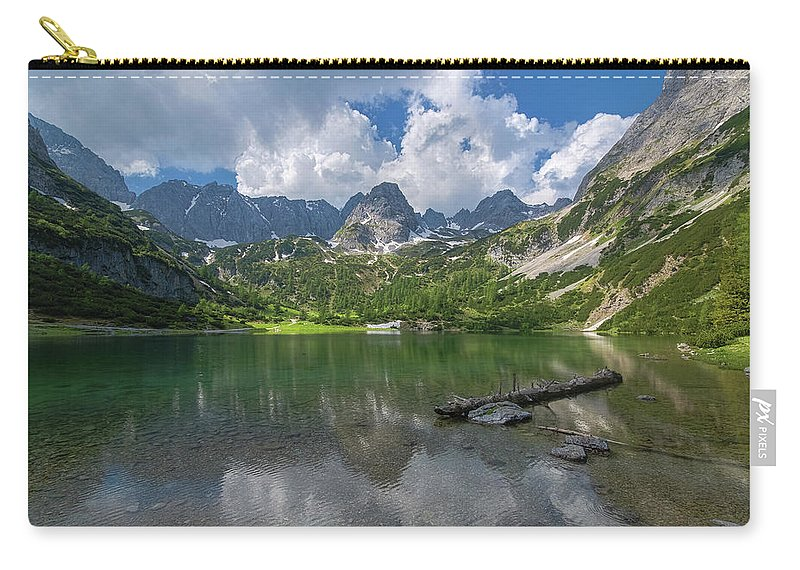 Österreich Carry-all Pouch featuring the photograph Austria Seebensee by Steffen Gierok