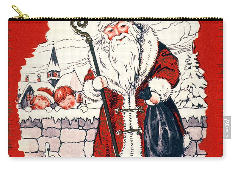 19th Century Carry-all Pouch featuring the photograph Austrian Christmas Card by Granger