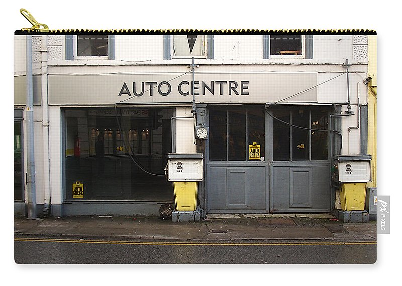 Auto Carry-all Pouch featuring the photograph Auto Centre by Tim Nyberg
