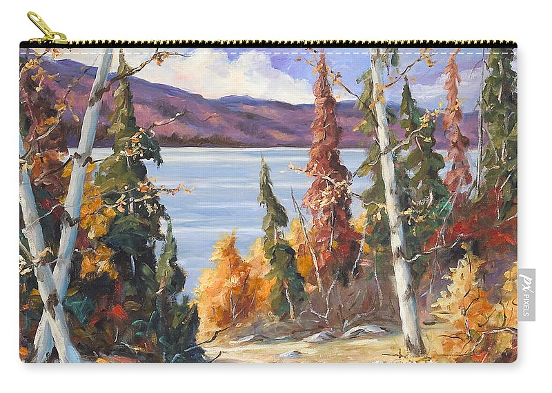 Art Carry-all Pouch featuring the painting Automn Colors by Richard T Pranke