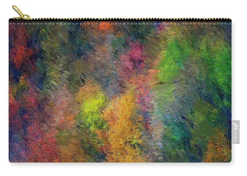 Landscape Carry-all Pouch featuring the digital art Autum Hillside by David Lane