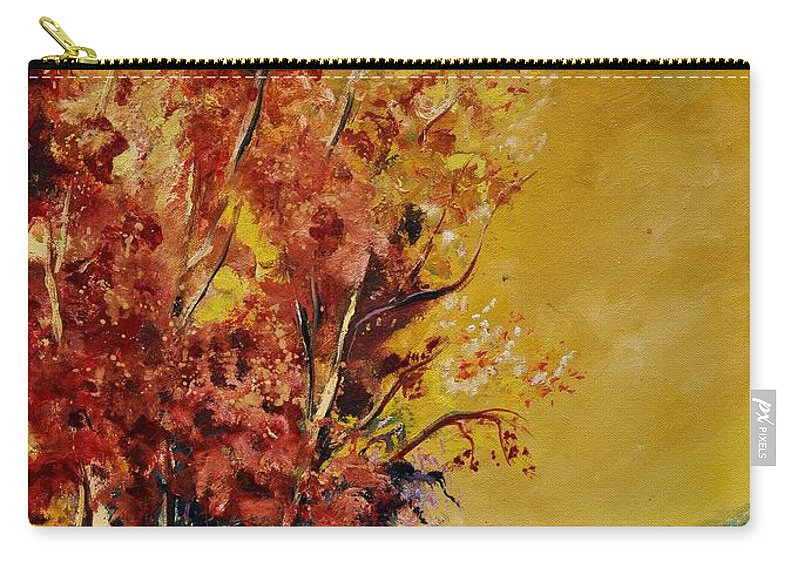 Landscape Carry-all Pouch featuring the painting Autumn 68 by Pol Ledent