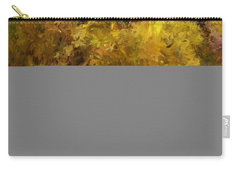 Abstract Digital Painting Carry-all Pouch featuring the digital art Autumn Abstract by David Lane