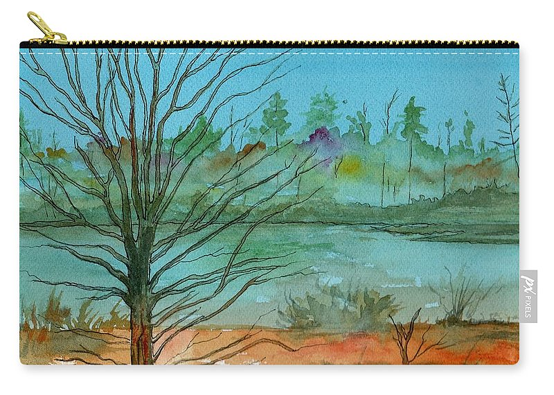 Watercolor Carry-all Pouch featuring the painting Autumn Afternoon by Brenda Owen