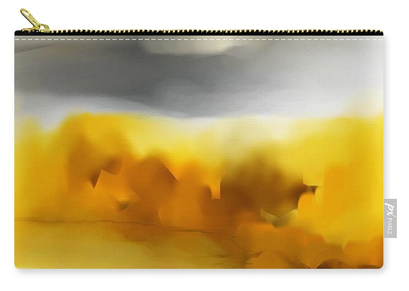 Landscape Carry-all Pouch featuring the digital art Autumn Along The River by David Lane