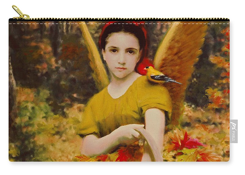 Angel Carry-all Pouch featuring the painting Autumn Angels by Stephen Lucas