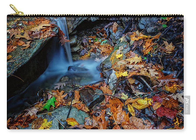 Autumn Carry-all Pouch featuring the photograph Autumn At A Mountain Stream by Rick Berk