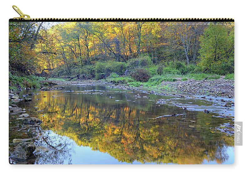 River Carry-all Pouch featuring the photograph Autumn At Brush 2 by Bonfire Photography