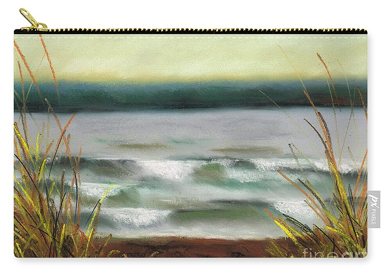 Lake Carry-all Pouch featuring the painting Autumn At The Lake by Frances Marino