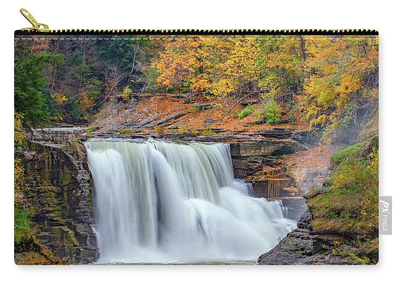Autumn Carry-all Pouch featuring the photograph Autumn At The Lower Falls by Rick Berk