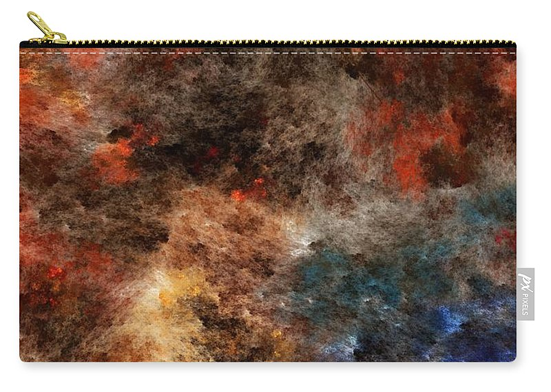 Abstract Digital Painting Carry-all Pouch featuring the digital art Autumn Beauty by David Lane